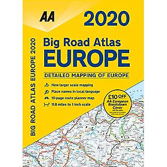 AA Big Road Atlas Europe 2020 - 9780749581411 Book