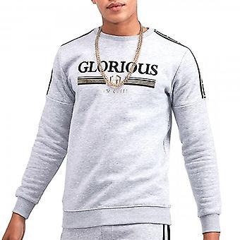 Glorious Gangsta Kalk Grey Crew Neck Sweatshirt