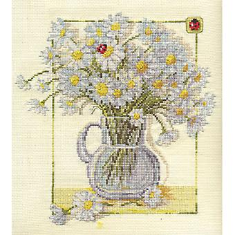 Panna Cross Stitch Kit : Camomile and Ladybird