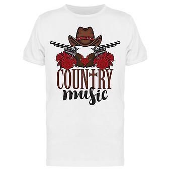 Country Music aseilla ja hatut Tee Men's -Image Shutterstock