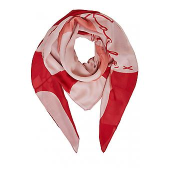 Oui rotes Herz Print Schal