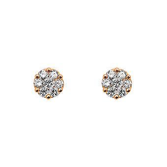 Boucles d'oreilles Flower Cluster Diamonds et 18K Gold