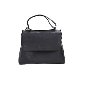 Orciani Bt2006softnblk Women's Black Leather Handbag
