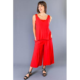 Twinset Rosso Red Dress TW991886-IT40-XS