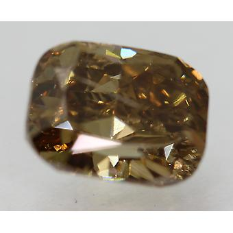 Cert 2.42 Carat Int Brown VS2 Cushion Natural Loose Diamond For Ring 8.59x6.79mm