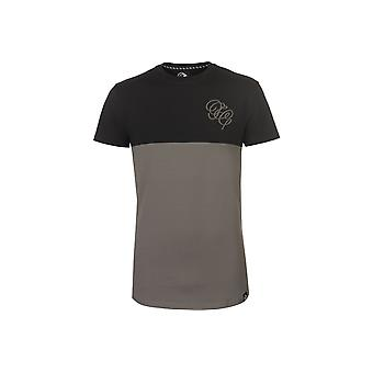 Fabric Embroidered Panel T Shirt