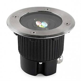 LED Small Round Outdoor Rgb Easy + Recessed Light Edelstahl Ip67