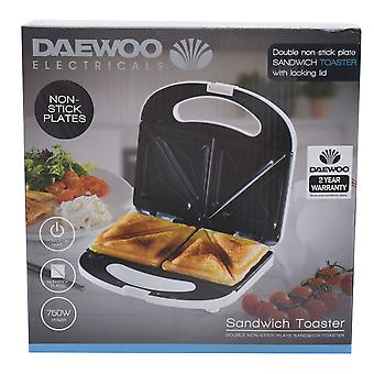 Daewoo Sandwich Toaster Non Stick Toasting Plates Handle with Locking Clip