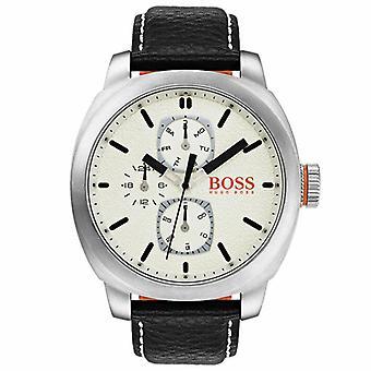 הוגו בוס 1550026 אנלוגי קוורץ עם עור גברים ' s שעון