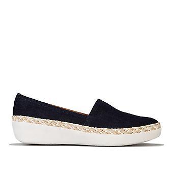 Kvinnor & apos; s Fit Flop Casa Denim Loafers i blått