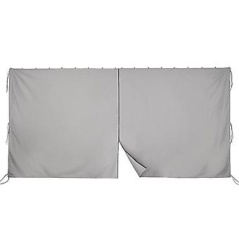 Yescom 11.6x6.5' Universal Replacement Privacy Side Wall Canopy Curtain for 10x12ft Yard Garden Gazebo Tent(Pack of 1)