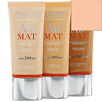 3 x Bourjois Air Mat Mattifying Foundation 30ml - Various Shades