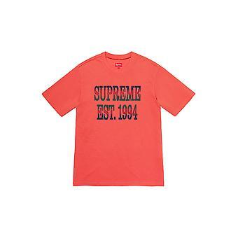 Supreme Baumwolle Mesh Gradient Logo S/S Top dunkle Koralle - Kleidung