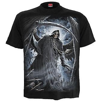 Spiraal-Reaper vleermuizen-mannen korte mouw t-shirt-zwart