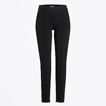 Cambio  - Rhona - Slim-leg Pants With Piping Detail - Black