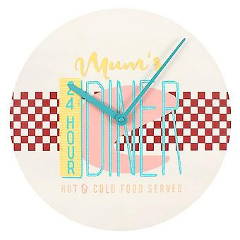 Something Different 24 Hour Mums Diner Wall Clock