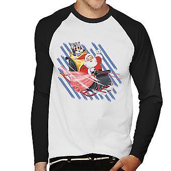 Pepsi Weihnachten Retro Flasche Santa Schlitten Männer's Baseball langärmelige T-Shirt