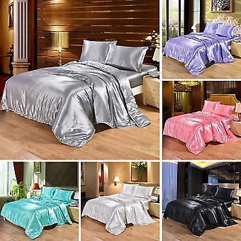 Luksus Satin Silk Bedding Set - Dronning, King Size Bed Set