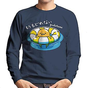 Gudetama Swimming Men's Sweatshirt
