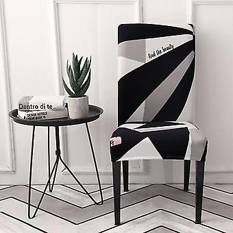 Modern Removable Anti Dirty Spandex Elastic Printing Dining Chair Slipcover - Kitchen Seat Case Stretch Chair Cover For Banquet
