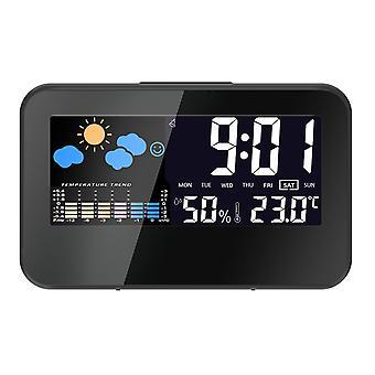 Loskii dc-002 digitaal weerstation thermometer hygrometer wekker slimme geluidsregeling klok