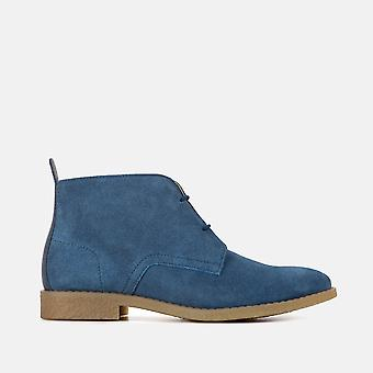 Isla dusky blue suede chukka boot