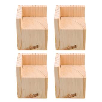 4pcs L Shape Funiture Feet Heighten Protector Pad 8.8*8.8*8cm