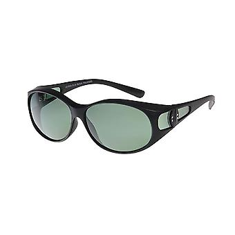 Sunglasses Women's Black with Green Lens VZ0032A