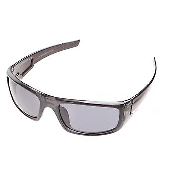Sunglasses Unisex Sport black glossy with grey glasses