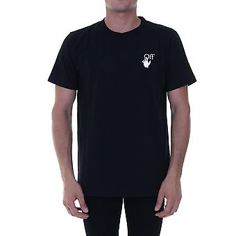 Off-white Omaa027f20fab0041001 Mænd's Black Cotton T-shirt