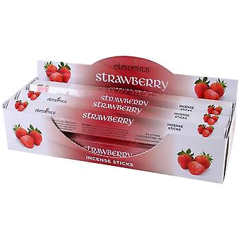Elements Strawberry Incense Sticks (Box Of 6 Packs)