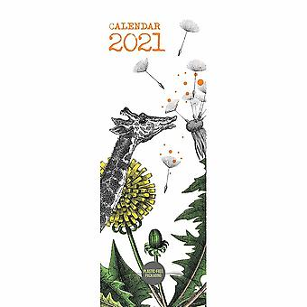Otter House 2021 Slim Calendar-pabuka