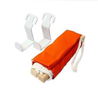 bærbar fly fot restmade footrest hengekøye oransje
