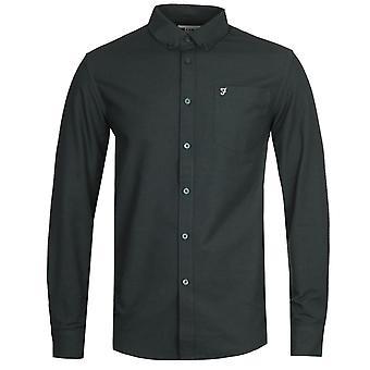 Farah F100 Drayton Long Sleeve Green Shirt