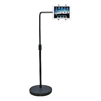 """Stand per pavimenti DELTACO per compresse,7""""- 10.1"""", 74.5-116.5 cm"""