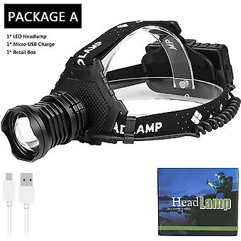 Most Powerful Xhp90.2 Led Headlamp 8000lm, Headlamp Usb-rechargeable,