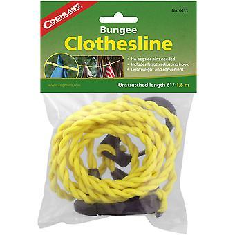 Coghlan's Bungee Clothesline Pegless con mosquetón, línea de ropa de secado de lavandería