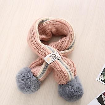Children Scarf Autumn Winter Toddler Boys Girls Cross Knitting Wool Scarves Baby Wild Warm