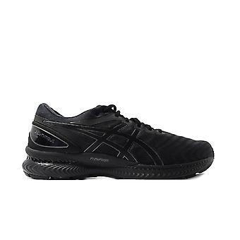 Asics Gel-Nimbus 22 Black/Black Mesh Mens Running Trainers