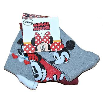 Minnie Mouse Socks 3-pack - Grey