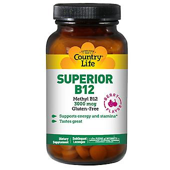 Country Life Superior B-12 Berry Flavored, 3000 mcg, 50 Lozs