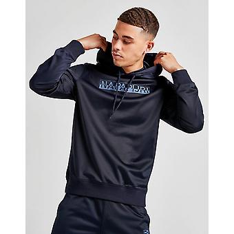 New Napapijri Men's Tonal Logo Hoodie Navy