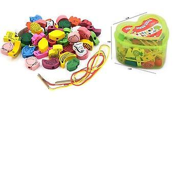 Animaux de dessin animé et jouet de perles de fruit pour le bébé