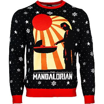 Offizielle Star Wars die mandalorianische Weihnachten Pullover / hässliche Pullover
