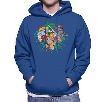 Masters Of The Universe He Man Montage Green Spetteren Men's Hooded Sweatshirt