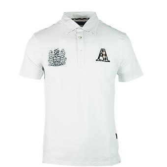 Aquascutum Check A Logo White Polo Shirt