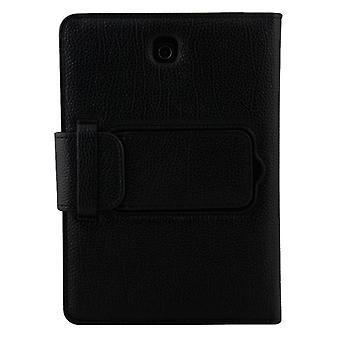 ل Galaxy Tab S2 8.0 T710 / T715 2 في 1 لوحة مفاتيح بلوتوث قابل للفصل الجلود الليتشي حقيبة الجلود مع حامل(أسود)