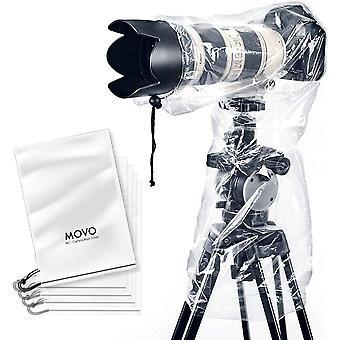Movo (5 pack rc1 klar regnslag for DSLR kamera og linse op til 46cm lang for kamera + linse (5 pack)