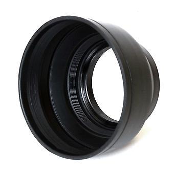 Phot-r 62mm pro universal rubber multi-lens hood