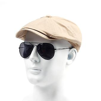 Spring Autumn Cotton Beret Casual Visor Cap Fashion Vintage  Hat Men's Caps
